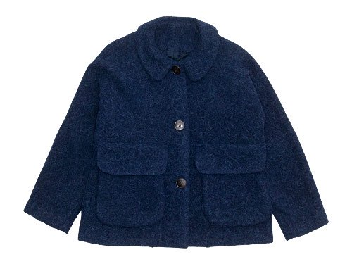 Lin francais d'antan Clouet(クルーエ) Round Collar Jacket NAVY
