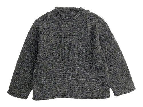 Lin francais d'antan Mullan(マラン) Shetland Knit GRAY