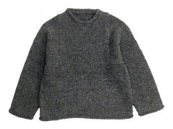 Lin francais d'antan Mullan Shetland Knit GRAY