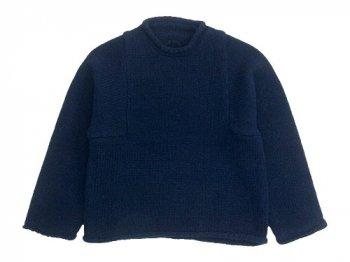 Lin francais d'antan Mullan Shetland Knit NAVY