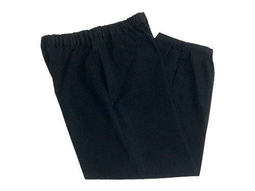 Lin francais d'antan Parrot(パロット) Cotton pants BLACK