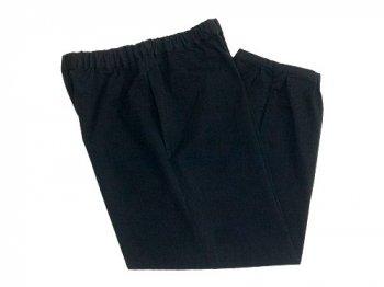 Atelier d'antan Parrot(パロット) Cotton pants BLACK