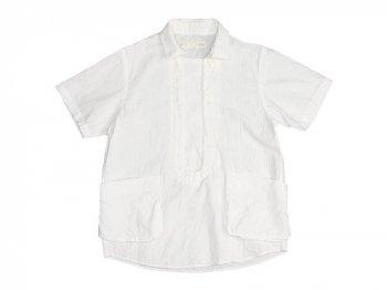 【別注】 nisica 半袖プルオーバーシャツ WHITE