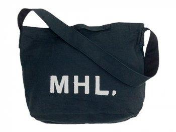 MHL. HEAVY CANVAS SHOULDER BAG  027CHARCOAL