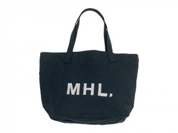 MHL. HEAVY CANVAS TOTE BAG 027CHARCOAL