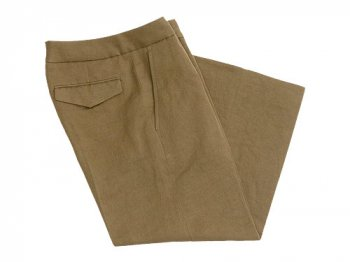 MARGARET HOWELL LINEN COTTON TWILL PANTS 180KHAKI 〔レディース〕