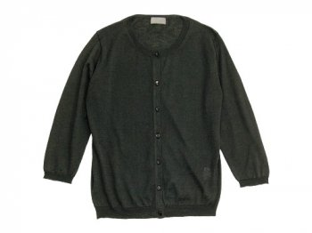 MARGARET HOWELL COTTON RAMIE CASHIMERE CARDIGAN 023CHARCOAL 〔レディース〕