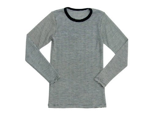 Tam Silk LONG SLEEVE BLACK x WHITE