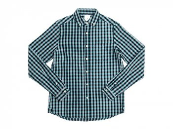 maillot sunset big gingham B.D. shirts BIG BLUE x GREEN