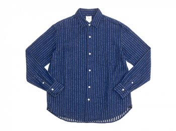 maillot nel stripe regular shirts BLUE x BLUE