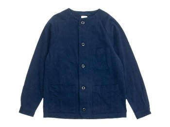 maillot chino cloth work jacket NAVY