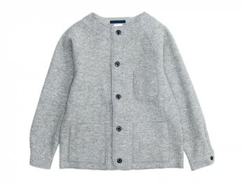 maillot melton work cardigan LIGHT GRAY