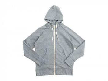 maillot ex fine wool sweat zip parka GRAY