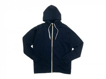 maillot ex fine wool sweat zip parka NAVY