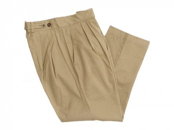 TOUJOURS Pleated Under Wear Pants KHAKI