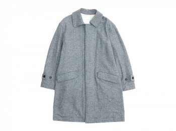 TOUJOURS Over Size Soutien Collar Coat GRAY