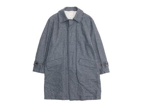 TOUJOURS Over Size Soutien Collar Coat HERRINGBONE