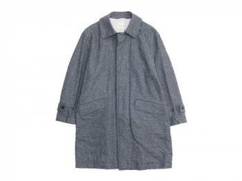 TOUJOURS Over Size Soutien Collar Coat HERRINGBONE 【KM23SC01】