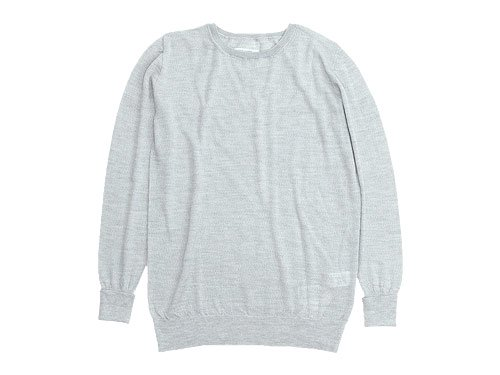 TOUJOURS Crew Neck Knit LIGHT GRAY