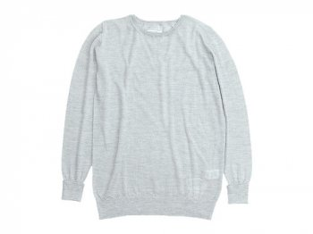 TOUJOURS Crew Neck Knit LIGHT GRAY 【VM23XK02】
