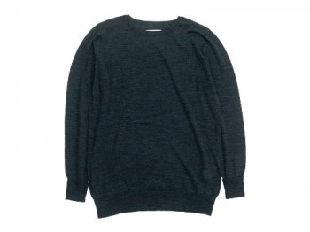 TOUJOURS Crew Neck Knit CHARCOAL