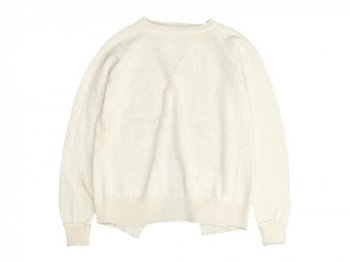 TOUJOURS Back Vent Pullover NATURAL WHITE