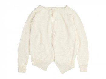 TOUJOURS Side Button Cardigan NATURAL WHITE