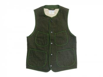 ENDS and MEANS Aldous Wool Vest OLIVE