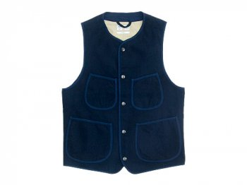 ENDS and MEANS Aldous Wool Vest NAVY