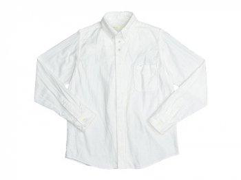 nisica 長袖ボタンダウンシャツ ネル WHITE