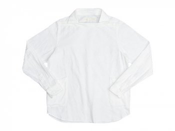 nisica デッキマンシャツ 長袖 ネル WHITE