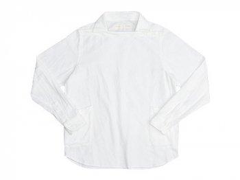nisica 長袖デッキマンシャツ ネル WHITE