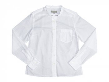 MARGARET HOWELL SOFT WASHED COTTON SHIRTS 030WHITE 〔レディース〕