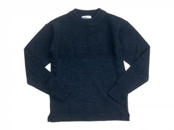 MHL. BULKY WOOL KNIT 121NAVY〔メンズ〕
