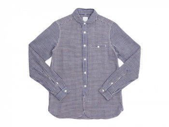 maillot sunset gingham round work shirts BROWN x BLUE