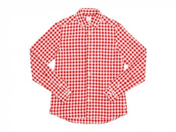 maillot sunset big gingham B.D. shirts BIG RED x WHITE