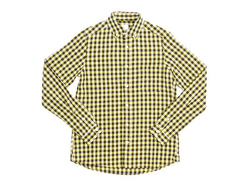 maillot sunset big gingham B.D. shirts BIG BROWN x YELLOW