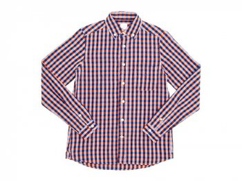 maillot sunset big gingham B.D. shirts BIG BLUE x ORANGE