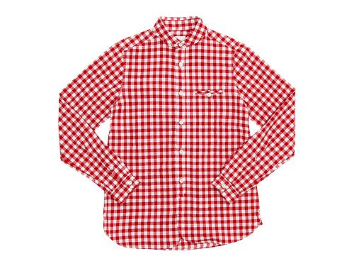 maillot sunset big gingham round work shirts BIG RED x WHITE