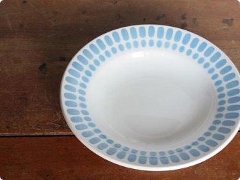 水色のスープ皿