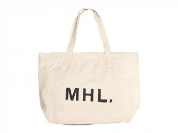 MHL. HEAVY CANVAS TOTE BAG 032ECRU