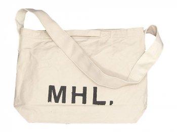 MHL. HEAVY CANVAS SHOULDER BAG 032ECRU