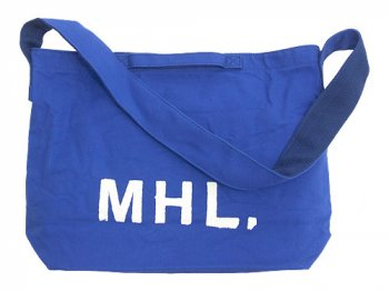 MHL. HEAVY CANVAS SHOULDER BAG 110FRENCH BLUE