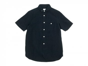 maillot sunset round work S/S shirts BLACK