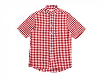 maillot sunset big gingham B.D. S/S shirts BIG RED x WHITE