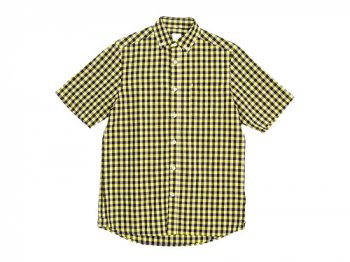 maillot sunset big gingham B.D. S/S shirts BIG BROWN x YELLOW
