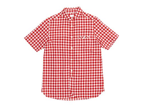 maillot sunset big gingham round work S/S shirts