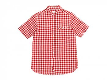 maillot sunset big gingham round work S/S shirts BIG RED x WHITE