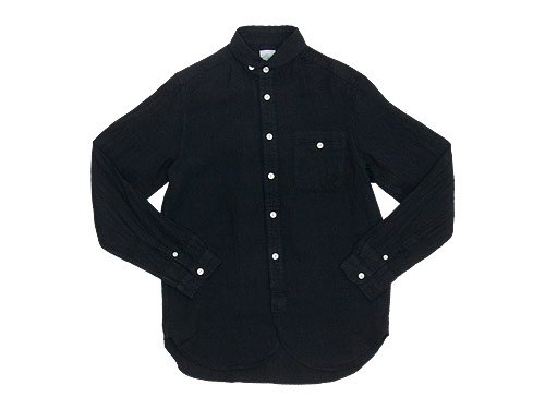 maillot sunset linen round work shirts BLACK