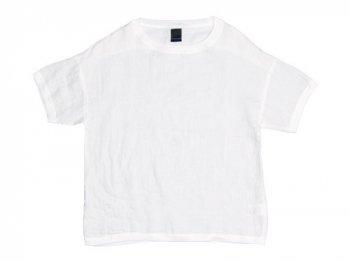maillot crew neck linen shirts T WHITE